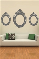 Wall Decals  Oval Baroque Frame