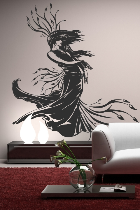 Elegant Wall Decals Lady Nature Part 8