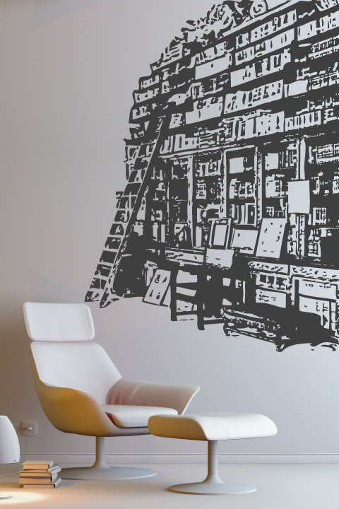 Alternative Views & Wall Decals Book Shelf- WALLTAT.com Art Without Boundaries