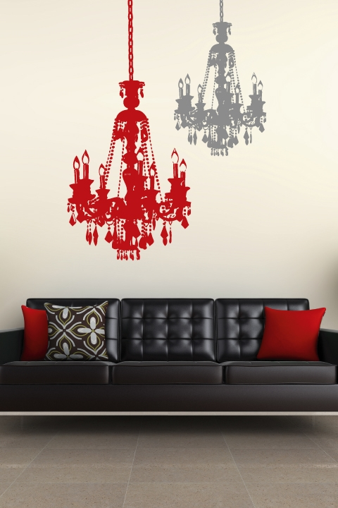 Vintage Chandelier Wall Decal 32