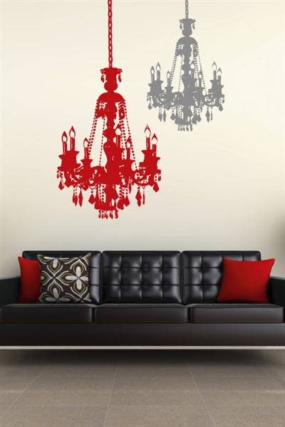 Chandelier Wall Decals