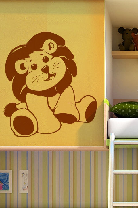 kids wall decals-baby lion- walltat art without boundaries