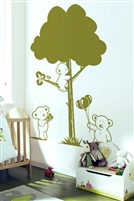 Teddy Bears and Tree Nursery Classroom DIY Wall Decal, 32 Colors - 6 sizes | WallTat.com