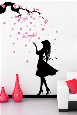 Baby Wall Decals -Lady Flowers