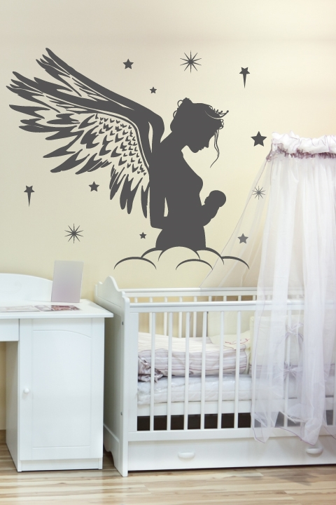 Alternative Views & Nursery Wall Decals-Mother Fairy- WALLTAT.com Art Without Boundaries
