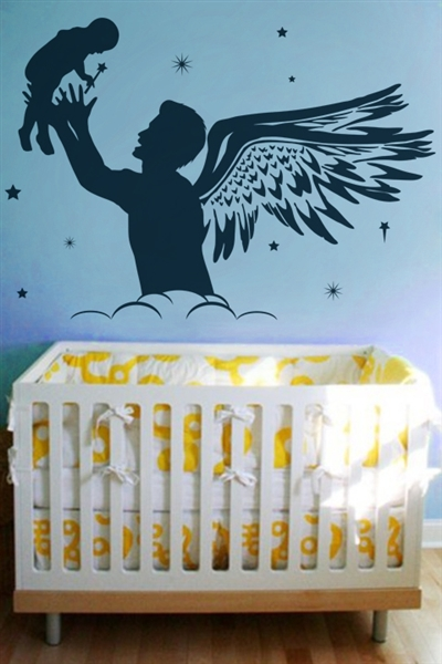 Nursery Wall Decals -Father Fairy
