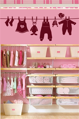 Kids Wall Decals -Baby Clothes