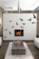 Flying Bird Silhouettes, 12 Wall & Window Decals anti-collision safety 32 Colors - 6 Sizes | WallTat.com