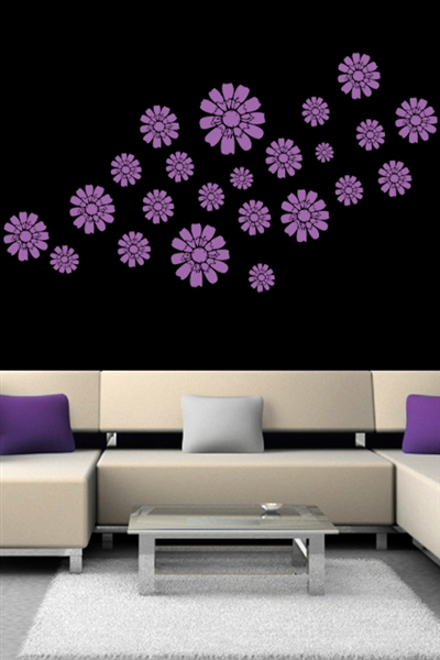 Kids Wall Decals -Floating Daisies