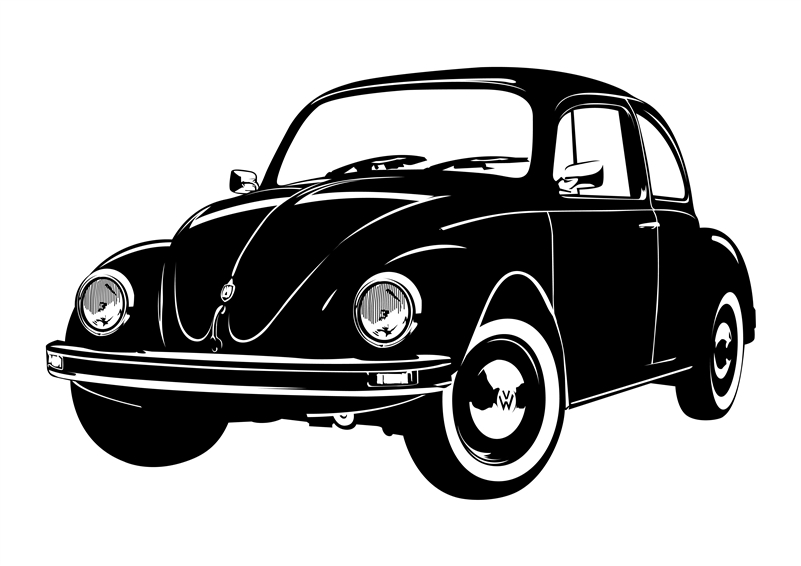 Avw bug side wall decal