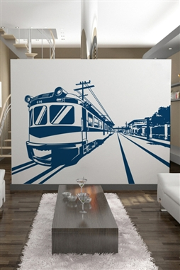 Wall Decals  Boxcar on Tracks