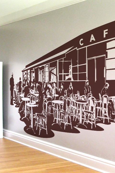 Wall Decals French Caf 233 Walltat Com Art Without Boundaries