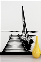 Wall Decals  Dock & Sailboat