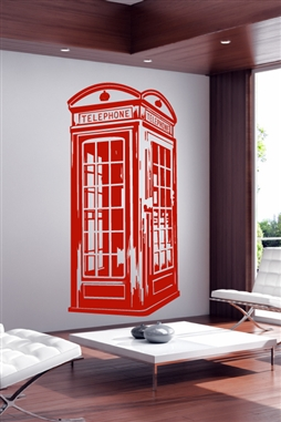 Wall Decals Beach Cabanna Vintage Phone Booth