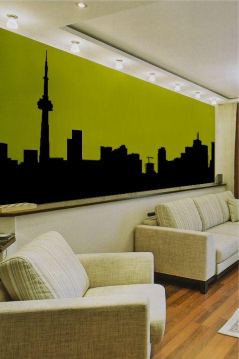 Wall Decals City Skyline- WALLTAT.com Art Without Boundaries