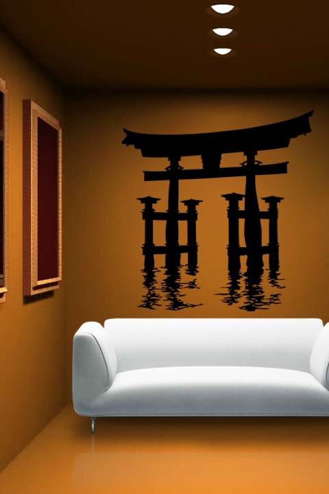 Wall Decals Japanese Waterway WALLTATcom Art Without Boundaries - Japanese wall decals
