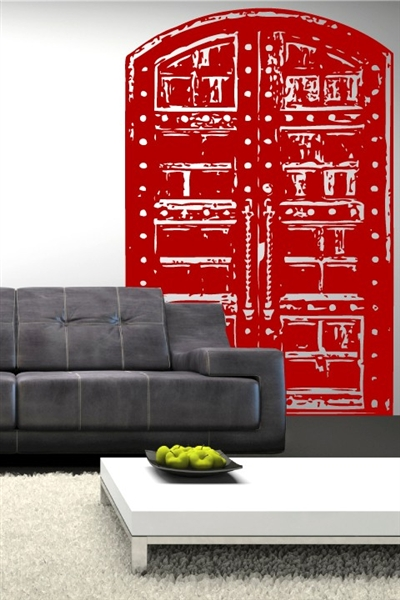 Wall Decals  Asian Door