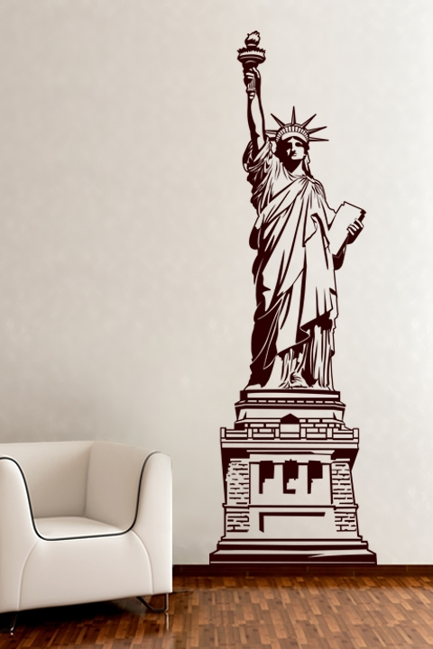 statue of liberty wall sticker
