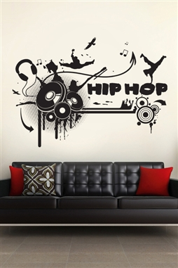 Charmant Wall Decals Hip Hop ...