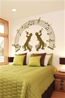 Wall Decals  Trumpet Duo
