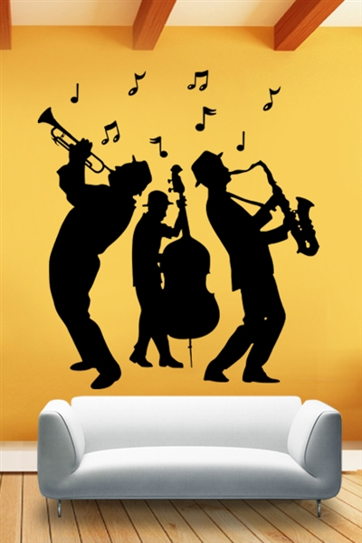 wall decals jazz band walltatcom art  boundaries