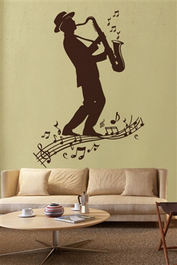 Wall Decals  Sax Player