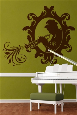 Wall Decals  Trumpet Player in Frame