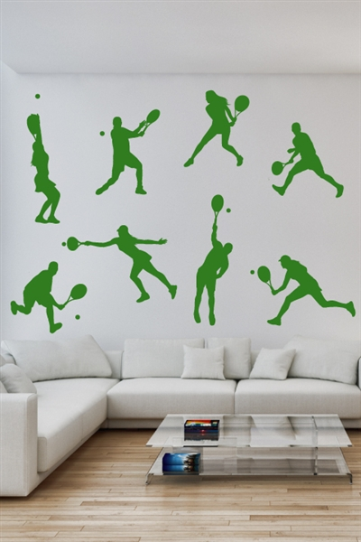 Wall Decals  Tennis Players