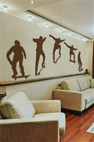 Skateboarder Ollie Action Wall Decal Set Large, Mural removable Walltat.com