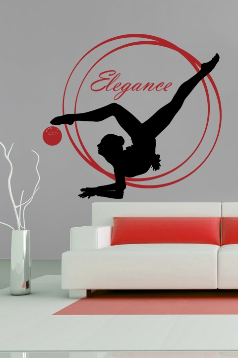 Wall Decals Elegant Gymnastics