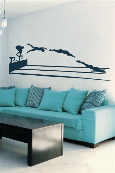 Wall Decals  Swimmer