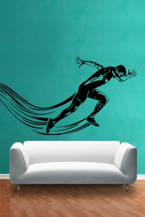 Wall Decals Sport Runner WALLTATcom Art Without Boundaries - Sporting wall decals