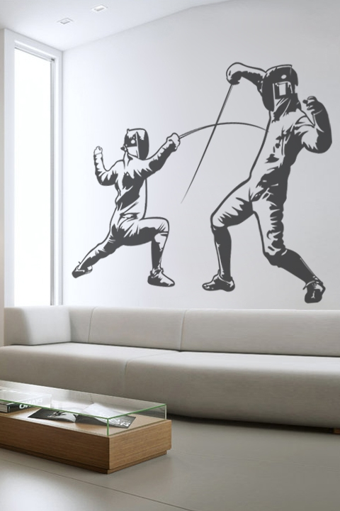 wall decals french fencing- walltat art without boundaries