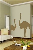 Wall Decal  Ostrich Duo