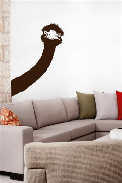 Wall Decals Silly Ostrich Peek -a -Boo