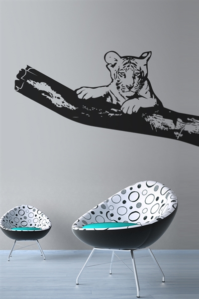Wall Decals  Tiger On A Limb