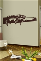 Wall Decals Panther or Lion Sleeping on Safari