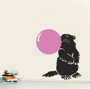 Wall Decal  Bubble Beaver