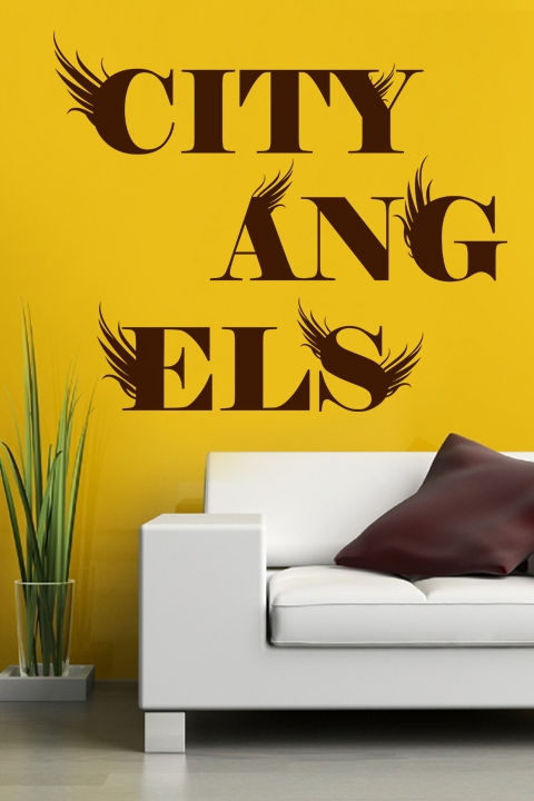 Wall Decals City Angel- WALLTAT.com Art Without Boundaries