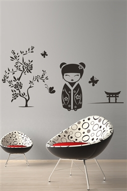 Wall Decals  Kokeshi Of The Spring