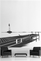 Wall Decals  Lighthouse & Dock View