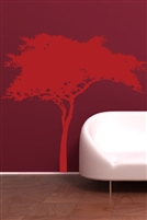 African Acacia Tree Safari Silhouette Mural DIY Wall Decal, 32 Colors - 6 Sizes | WallTat.com
