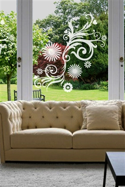 Window Decals Graphic Floral 1
