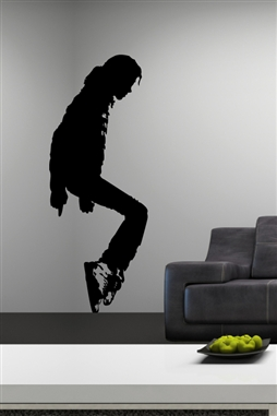 King of Pop Dance Silhouette Wall Decal, 32 Colors | WallTat.com