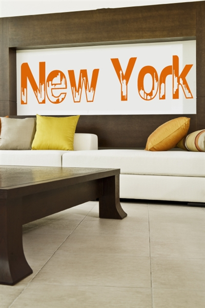 Wall Decals  New York (Text)