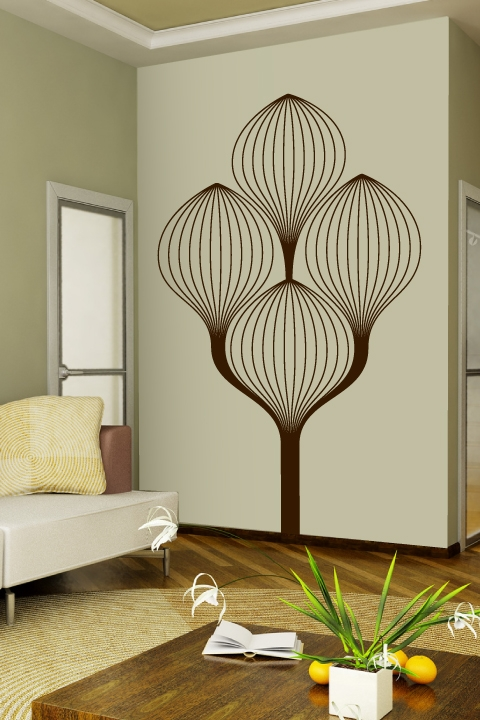 art deco tree wall decals walltat. Black Bedroom Furniture Sets. Home Design Ideas