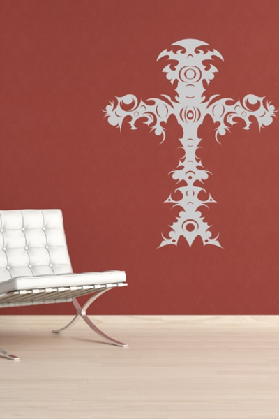 Tribal Cross Wall Decals