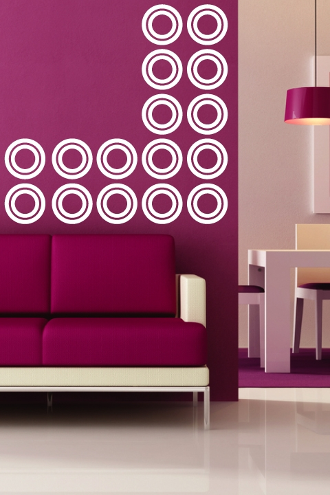 Concentric Circles Wall Decals & Concentric Circles Wall Decals | WALLTAT