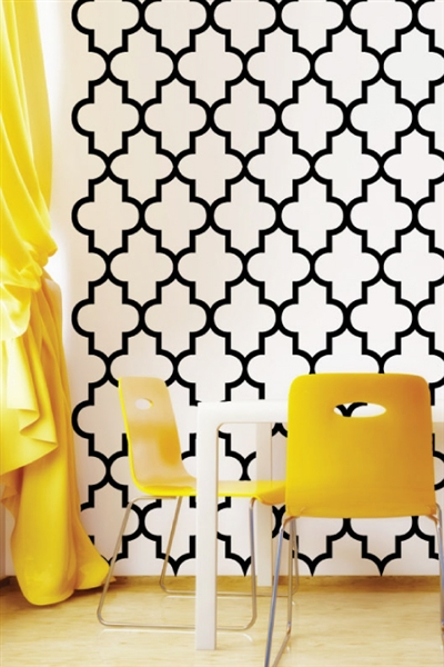 Lattice Pattern Wall Decals
