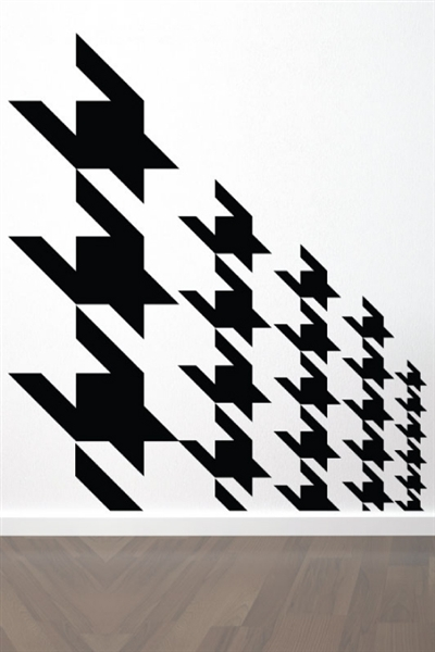 Houndstooth Incline Wall Decals